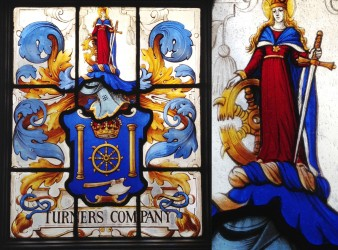 Turners Coat of Arms Stained Glass Window
