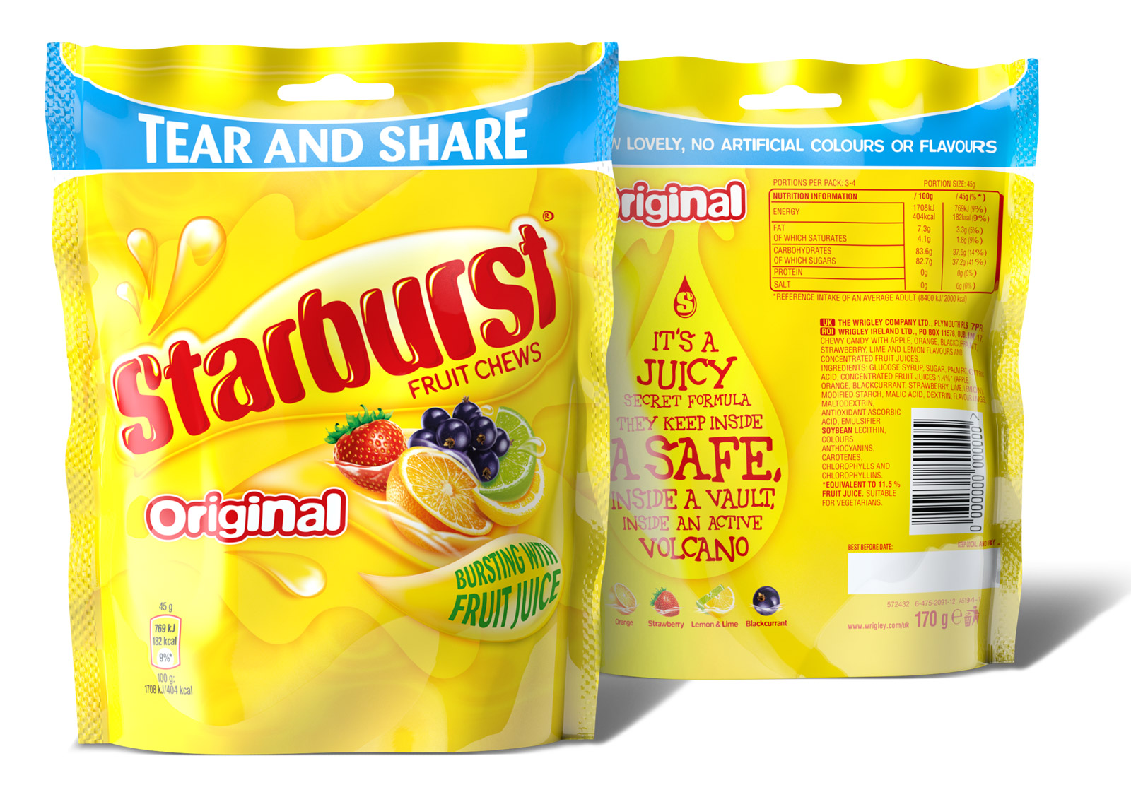 2014 Starburst Original Packaging front and back